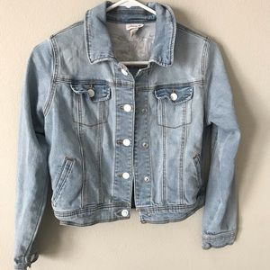 """Cat & Jack Jackets & Coats - JEAN JACKET WITH STITCHED """"AWESOME"""""""